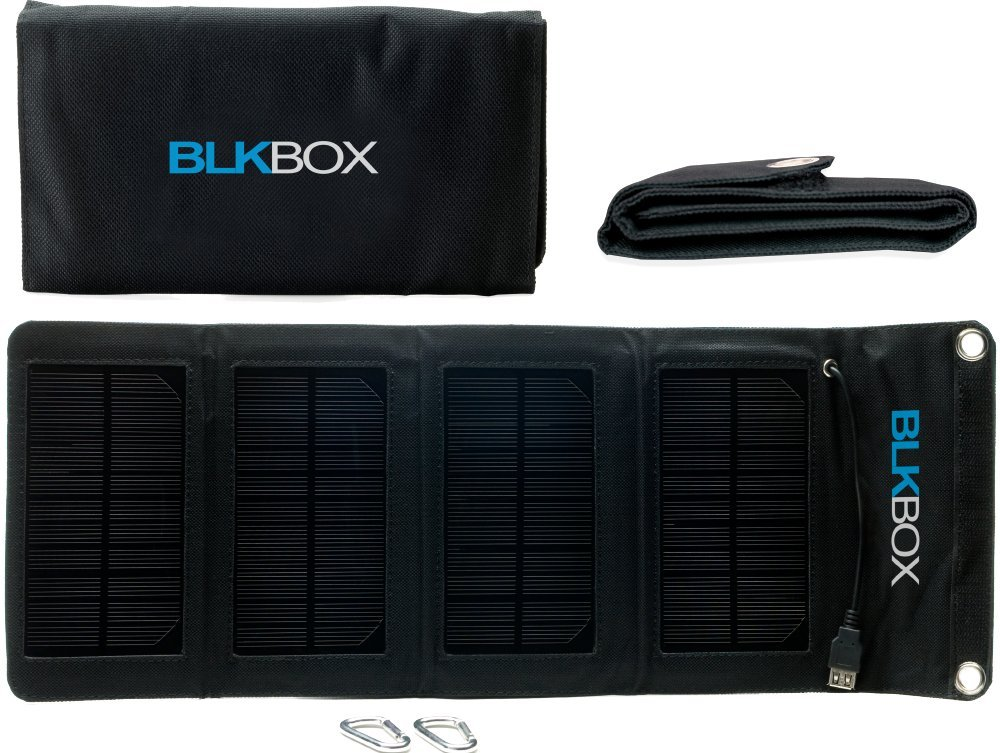 Portable Solar Charger  7W BLKBOX Portable Folding Solar Kit Solar Charges iPads, iPhones, Tablets, Phones or Anything with a USB Connectionreviews