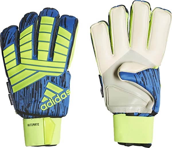 adidas PREDATOR FINGERSAVE ULTIMATE Goalkeeper Gloves Size 8 (Color   Yellow Blue 8184ffcc9cfe