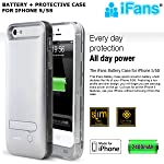 99 Digital iFans [Apple MFi Certified] Juice Pack for iPhone 5/5s Rechargeable Battery Case Back Up Power Bank Charger with Built in Pop out Kickstand [SILVER]