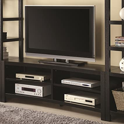 Four shelves TV Stand in Cappuccino Finish