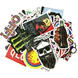Laptop Stickers 100 pcs Random Sticker Pack Car Stickers Motorcycle Bicycle Luggage Decal Graffiti Patches Skateboard Waterproof Stickers (100 Pcs) (Tamaño: 100 Pcs)