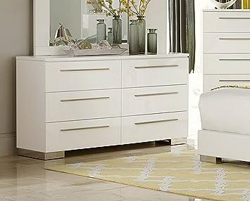 Homelegance Linnea Dresser In White High Gloss Finish