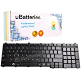 UBatteries Compatible Keyboard Replacement For Toshiba Satellite C650 C650D C655 C655D C660 C670 C675 C675D L650 L650D L655 L655D L670 L670D L675 L675D L750 L750D L755 L755D L770 L770D L775 L775D (Color: Black)
