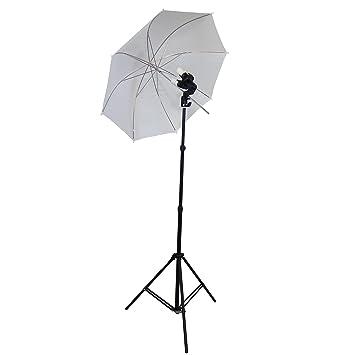 Studio Fotografico Stativo Treppiede DIFFUSORE FLASH Riflettore Ombrello Pro Kit