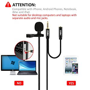 MillSO W12 Lavalier Microphone with Headphone jack