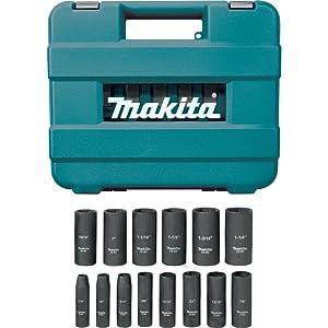 Makita A-96372 1/2 Drive Impact Socket Set (14 Piece) (Tamaño: 14 PC. SET)