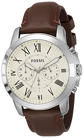buy fossil grant chronograph analog beige dial men s watch fossil grant chronograph analog beige dial men s watch fs4735