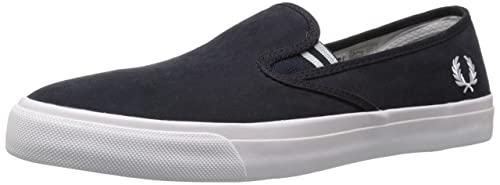 Fred Perry Men's Turner Slip On Brushed Cotton Fashion Sneaker