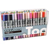 Copic I72B Ciao Markers Set B, 72-Piece (Color: B Set of 72, Tamaño: 1-Pack)