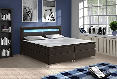 boxspringbett doppelbett ehebett polsterbett king size columbia. Black Bedroom Furniture Sets. Home Design Ideas