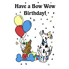 Crunchkins Edible Crunch Card Bow Wow Birthday