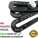 Heavy Duty Aluminum Multi Angle Measuring Ruler for DIY Workers | Angle Finder Woodworking Tool | Tile Flooring +FreePouch universal angler ruler Metal Gift Men Women Template Layout Tools (Black) (Color: Black)