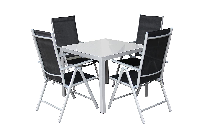5tlg. Alu Gartenmöbel-Set Gartengarnitur Balkonmöbel-Set GM5 80x80MG günstig bestellen