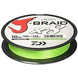 Daiwa J-Braid 300M 8-Strand Woven Round Braid Line, Chartreuse, 30 lb