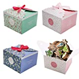 Craft Gift Boxes, 15pcs Cake Boxes Party Favor Treats Boxes Cookies Goodies Bakery Cupcake Boxes for Party Birthday Wedding Baby Shower Holiday Christmas Celebration (Color: Craft Gift Boxes, Tamaño: decorative boxes)