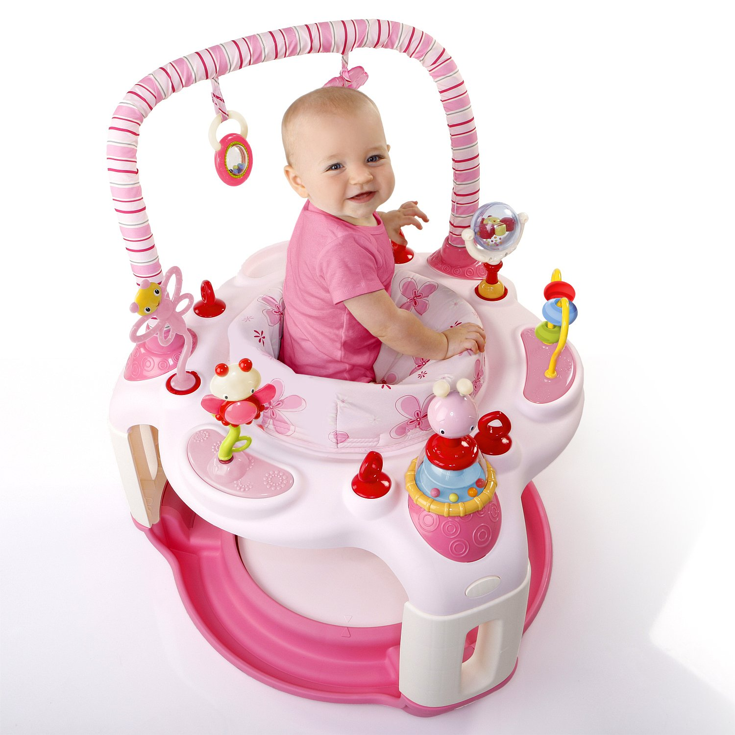 bright starts pink bounce a bout baby activity center. Black Bedroom Furniture Sets. Home Design Ideas