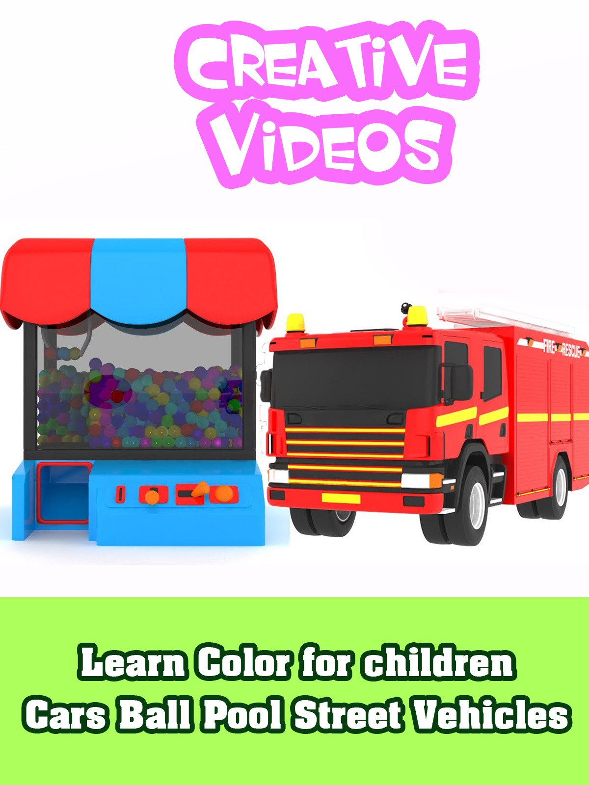 Learn Color for children Cars Ball Pool Street Vehicles