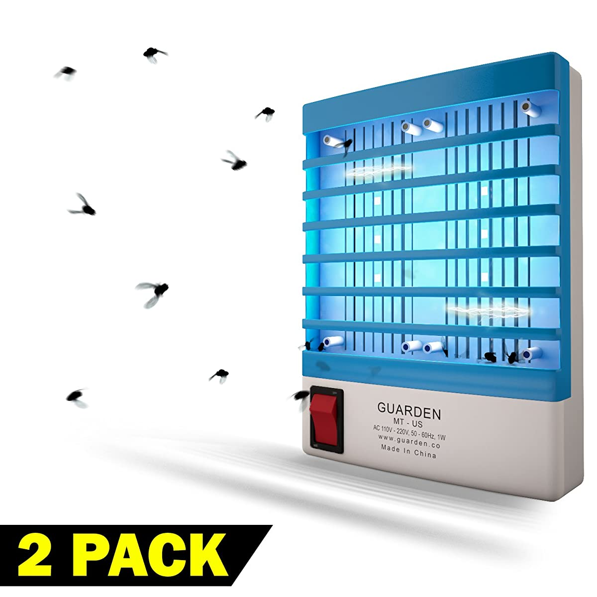 Indoor Gnat Killer Mosquito Zappers - Free your Home Of Gnats and Mosquitoes Fast - Non Toxic Electric Zapping Bug Control Lamp - Zap Bugs and Flying Pests -Extreme Strength Kill Plug Trap