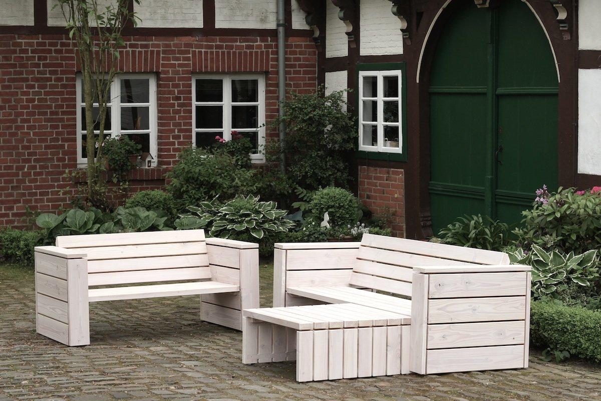 binnen-markt Lounge Gruppe 1 Heimisches Holz Douglasie Weiß Geölt online kaufen