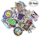 Rick and Morty Stickers [50 PCS], Waterproof Rick and Morty Theme Stickers for Decorate Luggage, Laptop, Bicycle, Cars, Skateboards, Notebooks, Wall etc. No-Duplicate Cartoon Stickers Pack (Color: 50PCS-B)