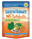 Natural Balance 3-Ounce Platefulls Indoor Chicken and Chicken Liver Formula in Gravy entree, 24-Pack
