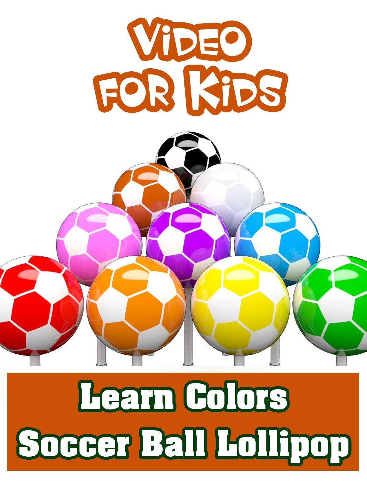 Learn Colors Soccer Ball Lollipop