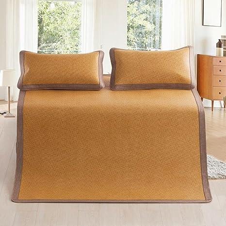 ERRU-Verano estera para dormir Estera de verano fresco Mat plegable de alto grado transpirable de tres piezas ( Color : A , Tamaño : 150*200cm )