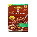 Annie's Homegrown Organic Cocoa Bunnies, Oat, Corn, and Rice Cereal, 1 LB, 2 Bags in ONE BOX