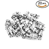 Pasow BNC Male Plug to F Female Jack Adapter Coax Connector Coupler adapters CCTV Camera (20PCS) (Color: 20PCS)