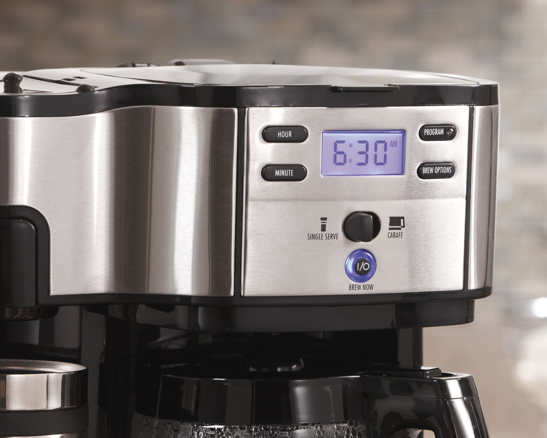 Coffee Maker Pot And Single : Hamilton Beach Single Serve Coffee Brewer and Full Pot Coffee Maker, 2-Way