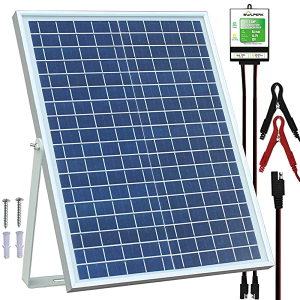 SOLPERK 20W Solar Panel,12V Solar Panel Charger Kit+8A