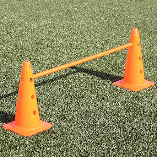 Bild: KombiKegelhürde 40 in 4 Farben mit Stange 100 cm für Agility  Hundetraining orange