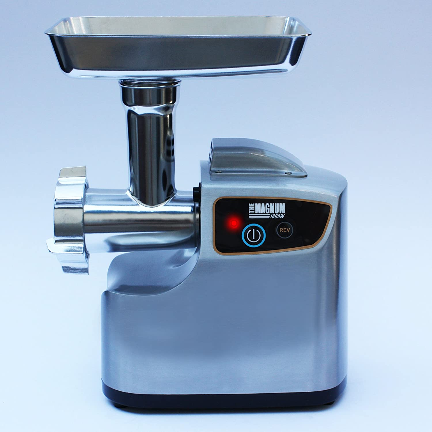 The STX MAGNUM 1800W Stainless Steel Electric Meat Grinder & Tomato Juicer