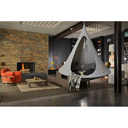 double hanging cacoon in grey