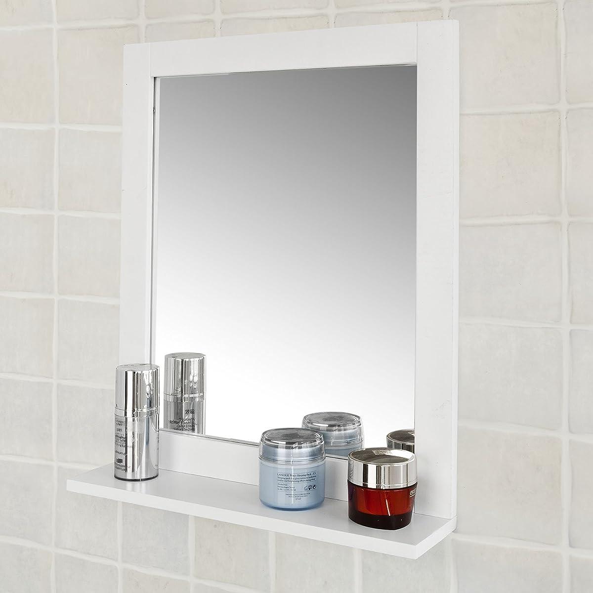 Haotian wall mounted bathroom mirror with shelf bathroom for Bathroom mirror set