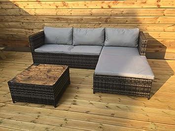 Kingfisher - Juego de sofá de ratán para exteriores (3 piezas)