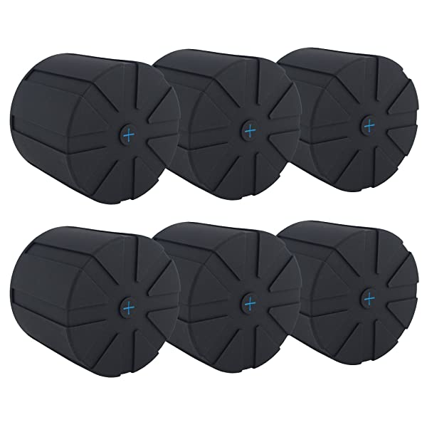 KUVRD - Original Universal Lens Cap - Fits 99% DSLR Lenses, Element Proof, Lifetime Coverage, 6-Pack (Color: Black, Tamaño: 6-Pack)
