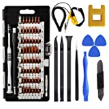 70 in 1Precision Screwdriver Set,Repair Toolkit with 56 Magnetic Driver Kit,Magnetizer,Anti Static Wristband,Spudgers for iPhone,Ipad,Imac,Tablet,MacBook,PC,Xbox,Notebook,Game C,Computer (Color: Black, Tamaño: Small)