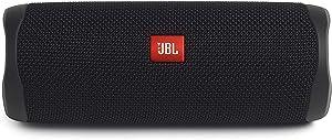 JBL FLIP 5 Portable Speaker IPX7 Waterproof On-The-Go Bundle with WRP Deluxe Hardshell Case (Black) (Color: Black)