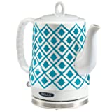 Electric Ceramic Kettle, Blue Aztec Design 1.2L - Blue