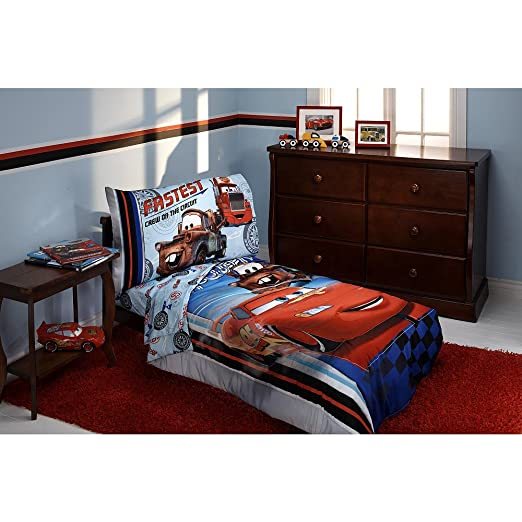 Cars Lightning McQueen and Mater Bed Comforter and Sheets