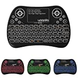 YAGALA Backlit Mini Wireless Keyboard with Touchpad 2.4G Rechargeable Backlit Handheld Remote Control Keyboard and Mouse Combo with Multimedia Keys for Android TV Box, PC, PAD, Smart TV, X-Box, HTPC