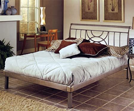 Hillsdale Furniture 1238HQR Mansfield Platform Bed Set, Queen, Brushed Silver