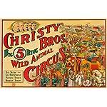 Christy Bros - Wild Animal Circus Vintage Poster USA c. 1924 (9x12 Collectible Art Print, Wall Decor Travel Poster)