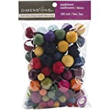 Dimensions Crafts 72-74014 Wool Ball Assortment for Needle Felting (Color: Original Version)