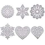 BENECREAT 6 Sets Cutting Dies Cut Metal Scrapbooking Stencils Nesting Die for DIY Embossing Photo Album Decorative DIY Paper Cards Making - Love Heart, Flower, Snowflake (Color: 6 Style - Heart, Flower, Snowflake, Tamaño: Basic Shape)