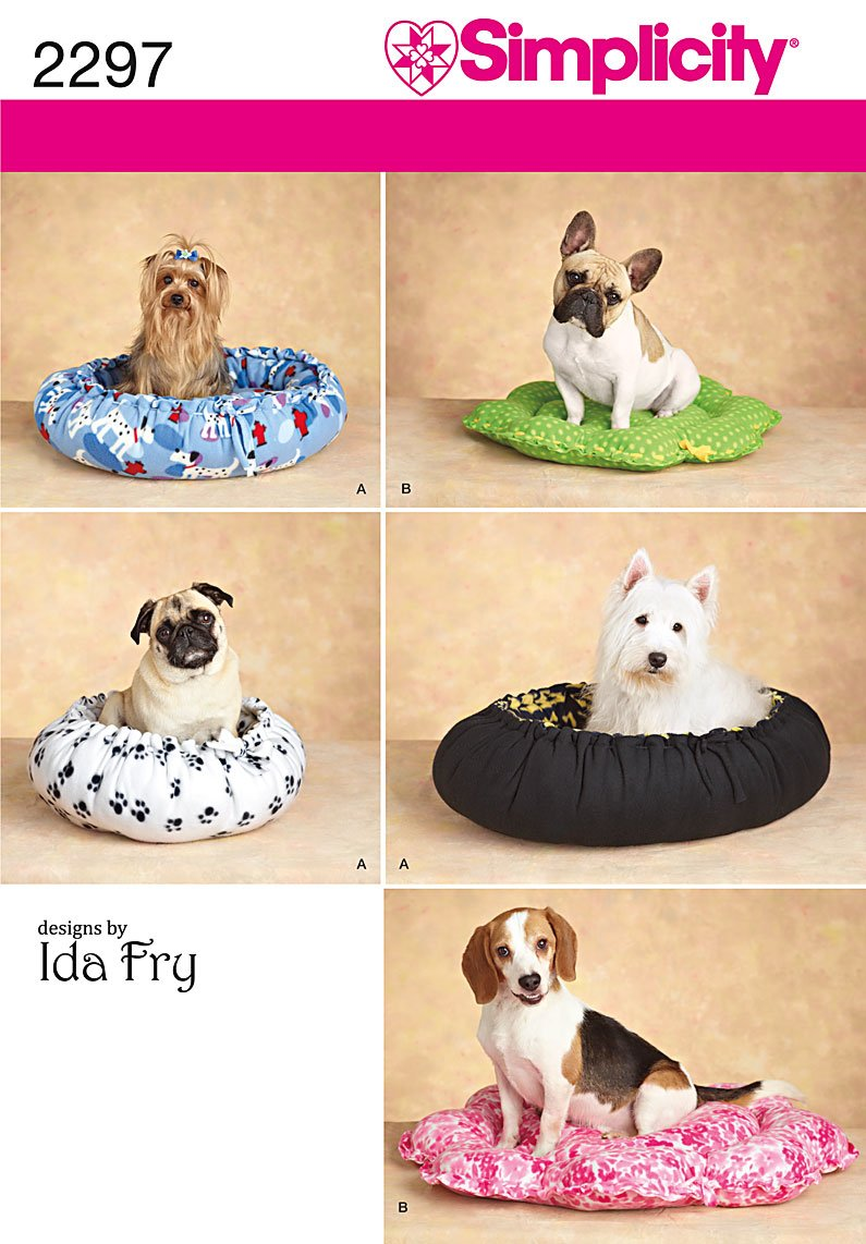 Simplicity Sewing Pattern 2297 Dog Beds (All Sizes)