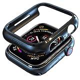 pzoz Compatible Apple Watch Series 4 Case 44mm Accessories Slim Guard Protector Thin Bumper Full Coverage Matte Hard Cover Defense Edge for Women Men Compatible New Gen GPS iWatch - Black (Color: Black, Tamaño: 44mm)