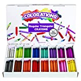 Colorations CRSTC Regular Size Triangular Crayons (Pack of 208) (Color: White)