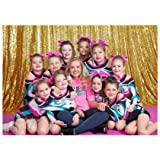 Gold Shimmer Sequin Fabric Photography Backdrop (20FTX10FT) (Color: Gold, Tamaño: 20FTx10FT)